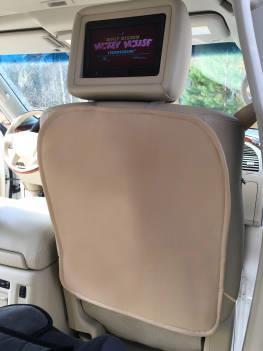 Накидка на спинку автомобильного сиденья из экокожи